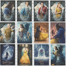 Beauty and Beast Movie Posters Kraft Paper Prints Wall Stickers Home Decoration Abooly Brand