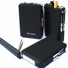 Hot Cigarette Case Lighter Cigar Box Torch Lighter Windproof Frosted Gas Lighter Refillable Fire Butane Jet Hole No Gas