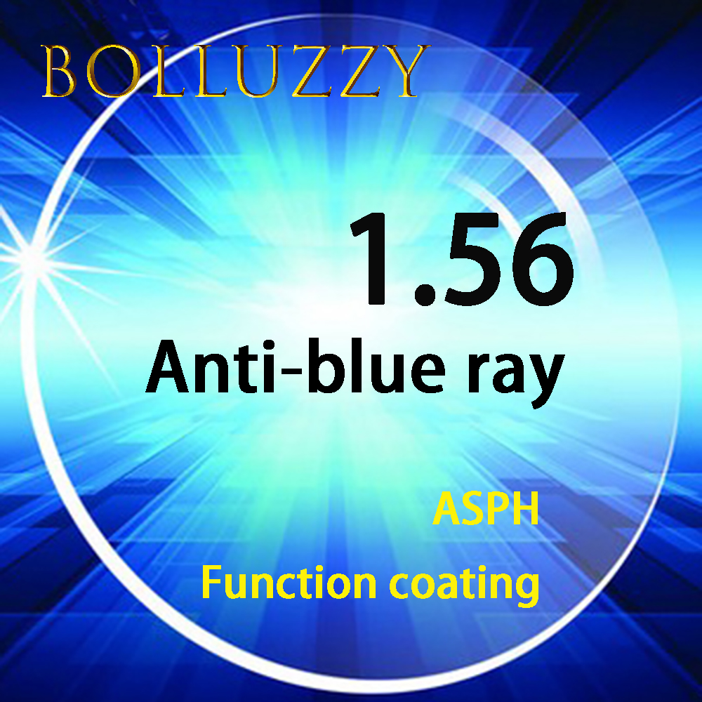 1.56 index PC unti-blue light rays unti-UV rays optical prescription high quality lenses for computer work TV watching