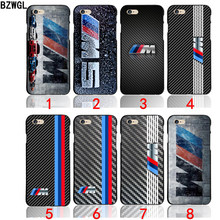 0d91c6cb3da Funda para teléfono BZWGL para silm BMW M Series M3 M5 con logo para iPhone  X 5 5S 6 6 s 7 8 Plus 5,5 pulgadas
