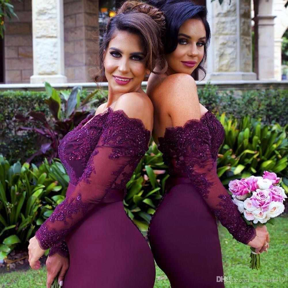 2e0c7d78bd Detail Feedback Questions about Sexy Lace Burgundy Bridesmaid ...