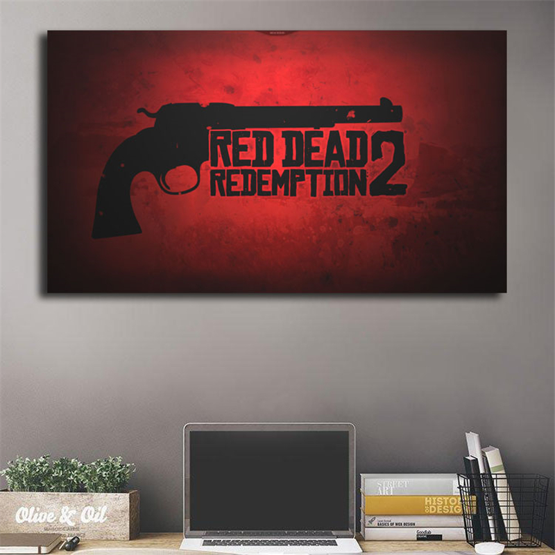 Red Dead Redemption Logo Wallpaper Canvas Posters Prints Wall Art Painting Decorative Picture Modern Home Decoration Accesories