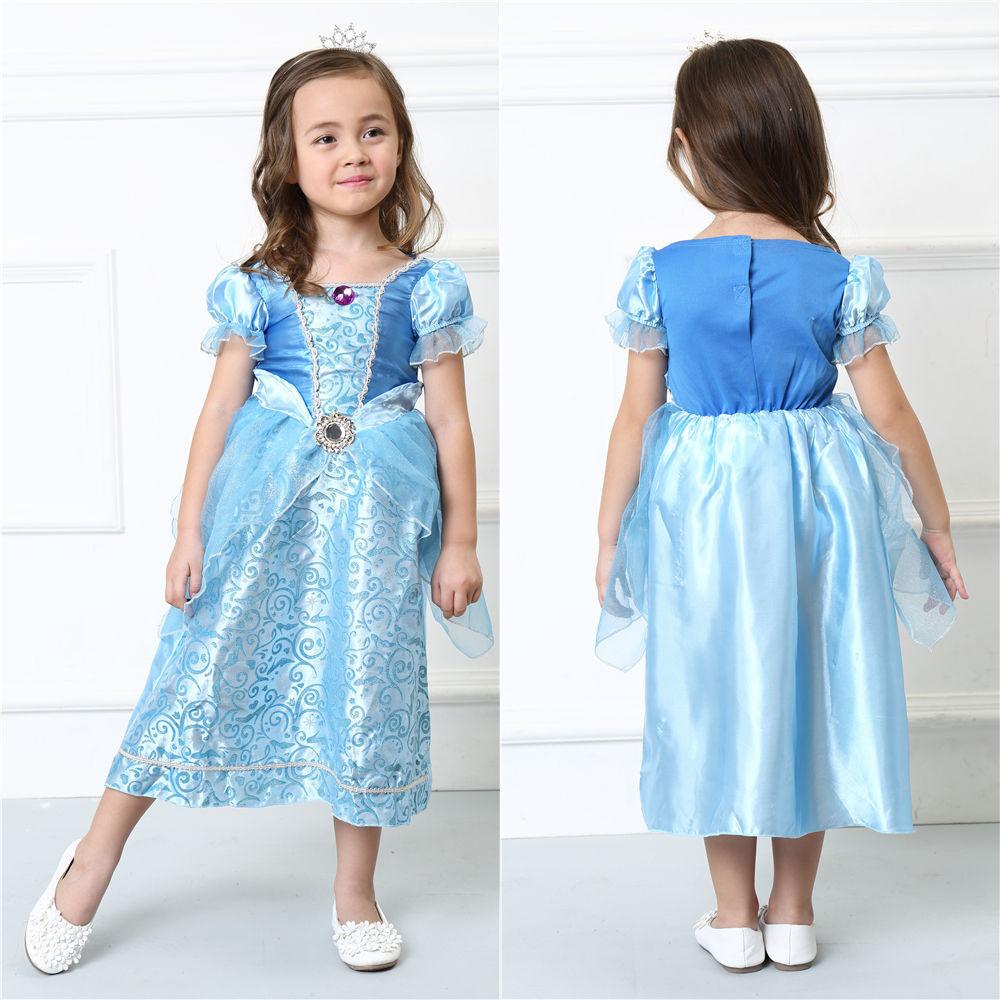 Original Princess Snow White Cinderella Dresses Costumes: 2016 Kids Girl Cinderella Dress Snow White Princess