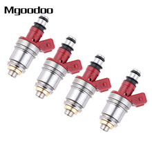 Mgoodoo 4Pcs Fuel Injector Nozzle 1660086G00 16600-86G00 JS21-1 1660086G10 16600-86G10 For Nissan Pickup D21 2.4L