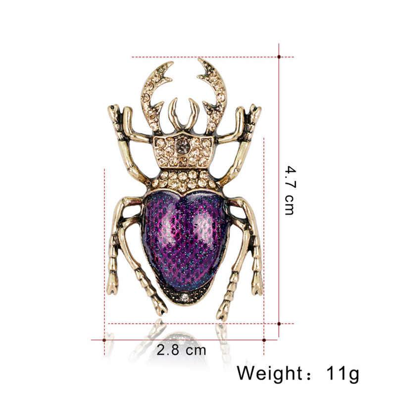 Serangga Scarab Bros Pins DIY Lencana Kreatif Hadiah Perhiasan untuk Wanita Gadis Anak-anak Mantel Jaket Lencana Dropshipping Wholesale