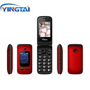 Image 3 - מקורי YINGTAI T22 3G MTK6276 GPRS MMS גדול לדחוף כפתור בכיר טלפון Dual SIM הכפול להעיף מסך עבור הבכור 2.4 אינץ