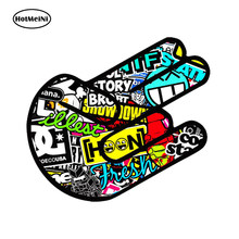 HotMeiNi Car Styling Car Sticker Waterproof Aufkleber Bomb Shocker Hand Sticker Jdm Stickerbomb Auto Moto Tuning 13cm x 9cm(China)