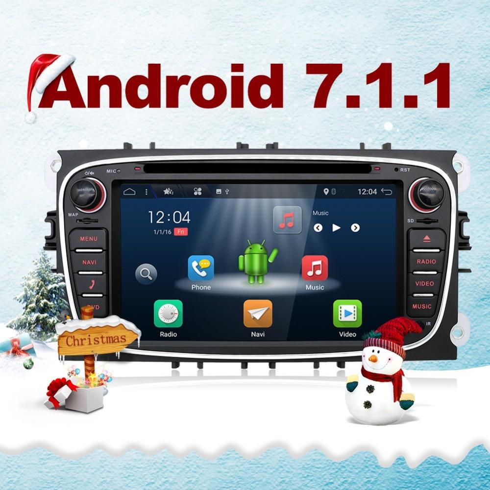 Bosion Android 7.1 Quad core dvd de voiture pour Ford Focus Galaxy Mondeo S max voiture radio stéréo multimédia lecteur livraison canbus