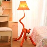 Kids lamp Fabric Animal Caton Red Tiger Children Gift lighting Modern Decoration Floor Lamp living room Bedroom