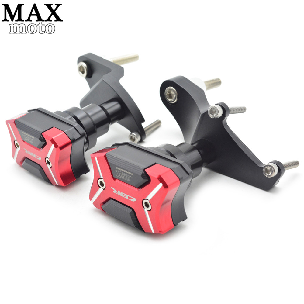 CNC aluminum Motorcycle Frame Sliders Crash Engine Guard Pad Aluminium Side Shield Protector For Honda CBR500R 2013-2016 cnc aluminum motorcycle frame sliders crash engine guard pad aluminium side shield protector for kawasaki z1000sx 2010 2016