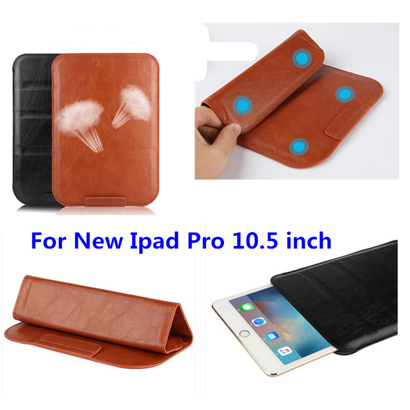 2017 New Business PU Leather case sleeve cover Pouch Bag Sleeve Bag Stand super slim Cases For New ipad Pro 10.5 inch Tablet for new ipad 9 7 inch 2018 a1954 a1893 pu leather sleeve slim cover pouch bag sleeve bag case for ipad air 1 2 9 7 2017 tablet