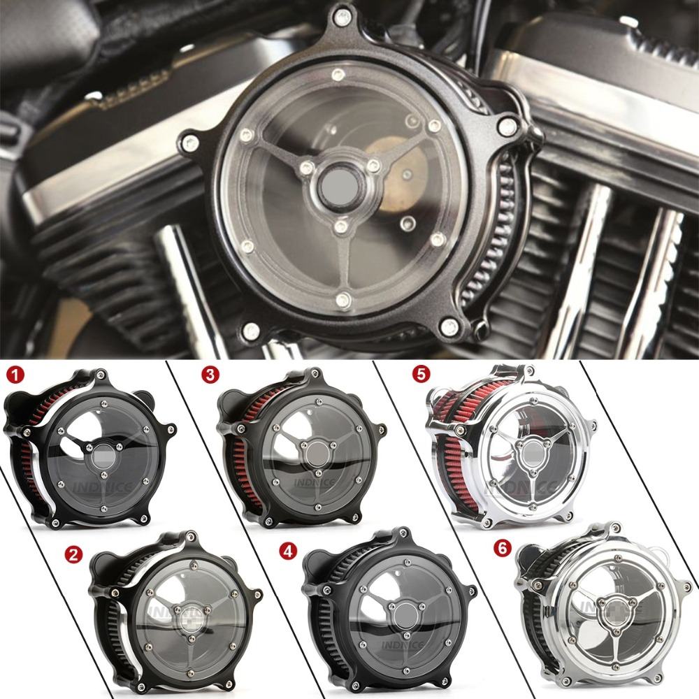 Enthousiast Voor Harley Contrast Cut Air Intake Cleaner Filter Dyna Softail Touring Fat Boy Bob Straat Glide Transparante Air Intake Filter Elegant In Stijl