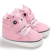 Детская Осенняя обувь Детские кроссовки для мальчиков и девочек, с лисьим носком, с кружевом, из хлопчатобумажной ткани, для первых шагов, с нескользящей мягкой подошвой, для малышей, 1 пара