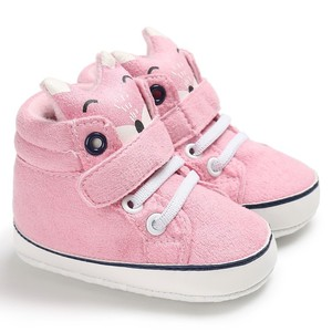 Baby Autumn Shoes Kid Boy Girl Fox Head Lace Cotton Cloth First Walker Anti-slip Soft Sole Toddler Sneaker 1 Pair(China)