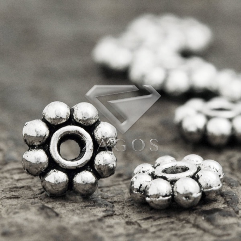 Free Ship 1000Pcs Tibetan Silver Spacer Beads For Jewelry Making 5x2mm NEW