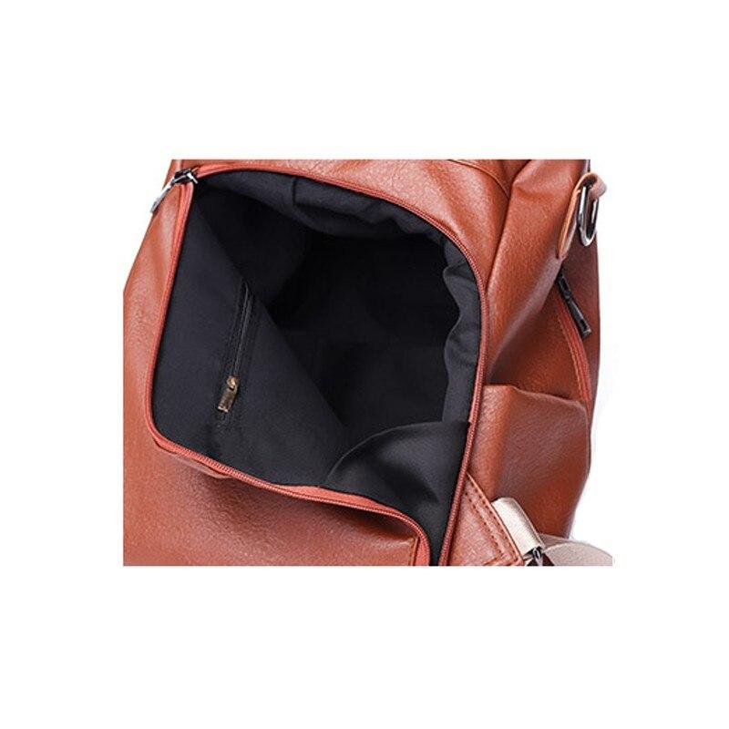 Morbido Vesnazima Nuovo Il Di Pu Sacchetto Tempo Da Libero Per Calde Bag Zaino Modo Scuola brown Studente Leather Femminile Wm615z 2018 Black Donne Viaggio FF5pxqTwr