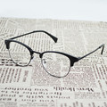 TR 90 Tortoise Black Fashion Eye Glasses Half Frame Eyewear for Teens Eyeglasses Male Female