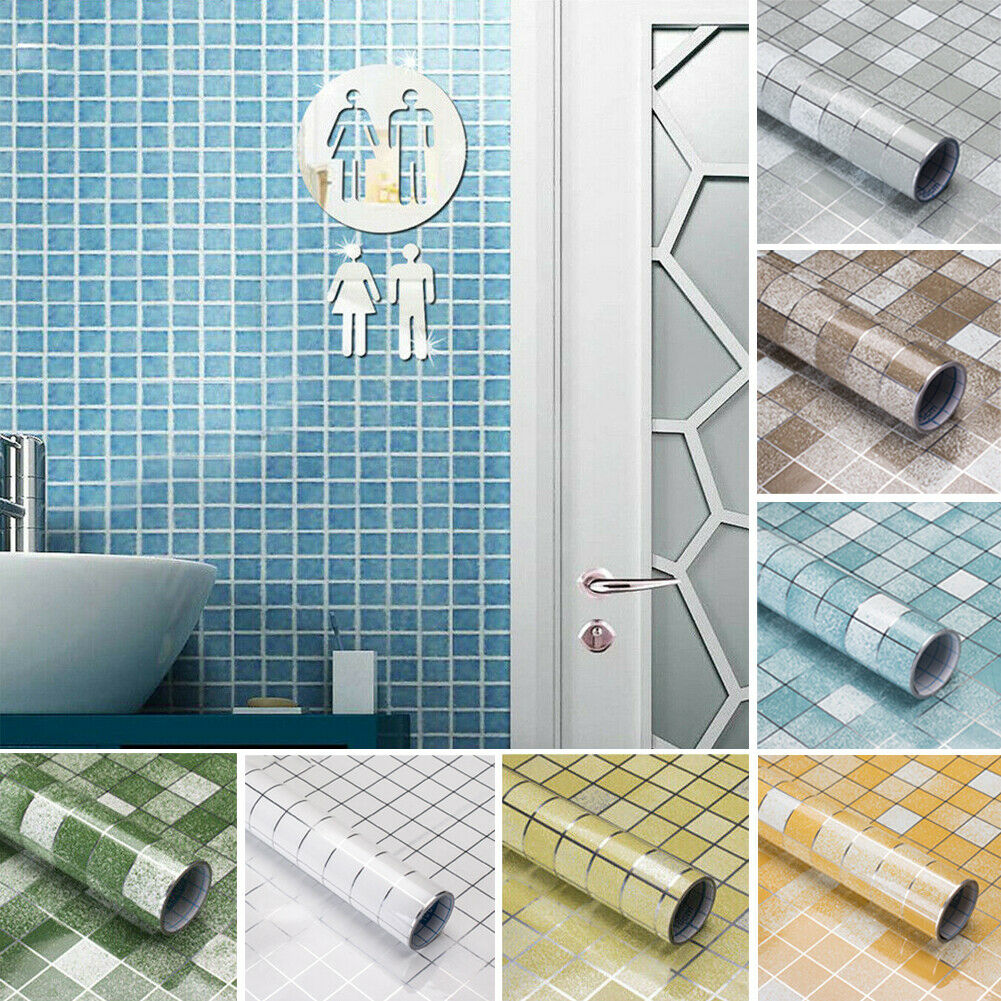 1pcs Mosaic Stick On Self-adhesive Wall Tile Stickers For Home Kitchen  Bathroom