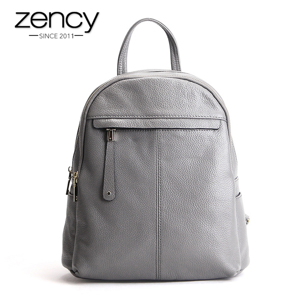 New Fashion Brand Women Genuine Leather Backpack Women's Backpacks for Teenage Girls Ladies Bags with Zippers School Bag Mochila women genuine leather backpack women s backpacks for teenage girls ladies bags with zippers school bag mochila sli 281