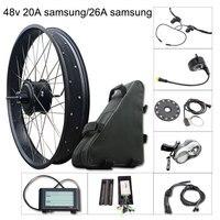 Electric Bike Kit 1000w Fat Tire Motor Wheel E Bike Kit 48V 20A/26A Samsung Electric Bicycle Conversion Kit for Rear Hub Motor
