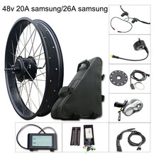 Electric Bike Kit 1000w Fat Tire Motor Wheel E Bike Kit 48V 20A/26A Samsung Electric Bicycle Conversion Kit for Rear Hub Motor цена и фото
