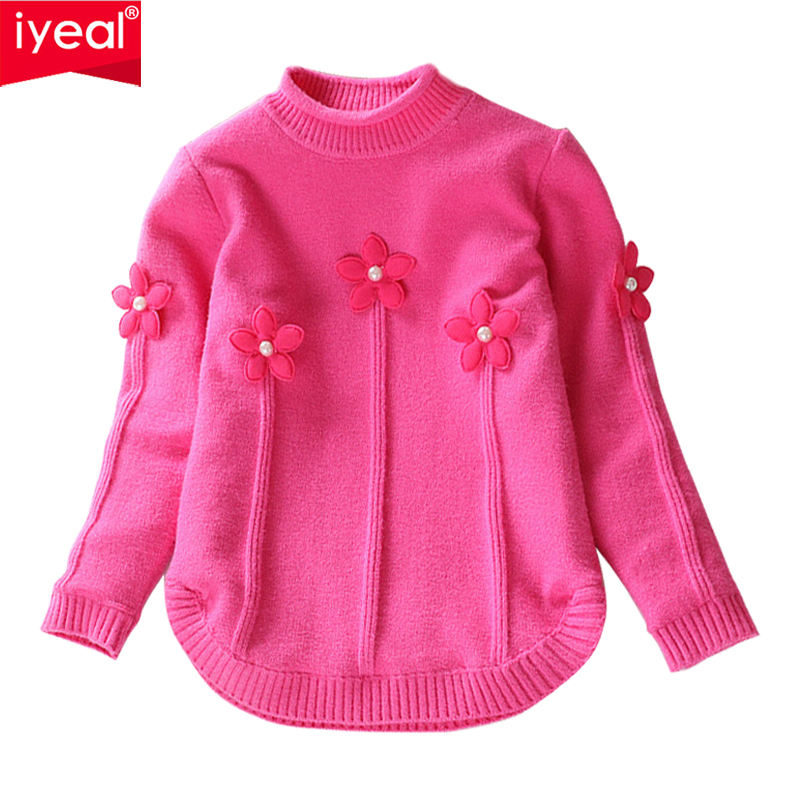 IYEAL Turtleneck Winter Knitted Sweater Children Girls Thicken Solid Colors Pullover Kids Baby Soft Warm Autumn Casual Jumper ryeon winter autumn sweater dresses big size women turtleneck long sleeve loose casual grey sexy pullover knitted sweater jumper