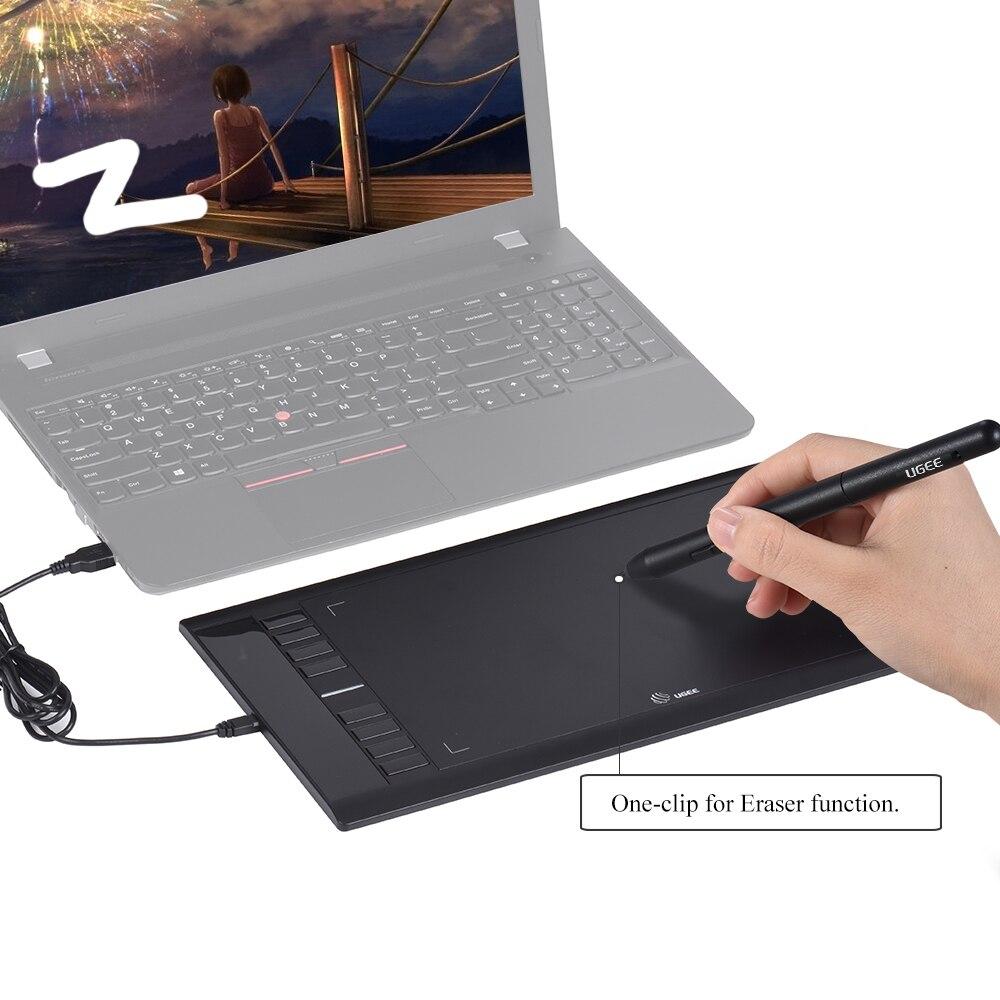 UGEE M708 mises à niveau tablette graphique dessin tablettes Art planche à dessin tablette d'écriture électronique 10x6 pouces zone Active 8192 niveau - 5
