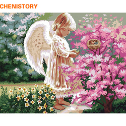 Chenistory angel girl diy painting by numbers kit coloring painting by number with wood frame for.jpg 250x250