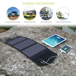 Image 3 - Allpowers 電話充電器 21 ワット 18 v ソーラーバティ充電器携帯電話の usb/dc 充電器スマートフォンラップトップ 12 12v 車のバッテリー