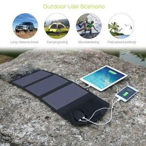 Image 3 - Carregador do telefone de allpowers 21 w 18 v movido a energia solar battey carregador do telefone móvel usb/dc carregadores para o portátil 12v do smartphone bateria de carro
