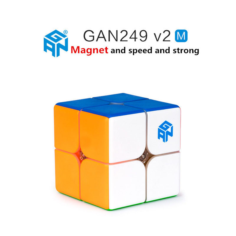 Image 4 - Gan249 2x2 magic speed cube stickerless GAN 249 V2M puzzle pocket Cube colorful gans toys for Children-in Magic Cubes from Toys & Hobbies