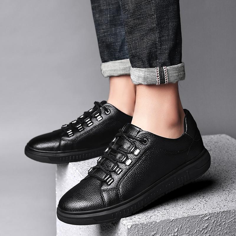 Tenis Mode Black Richelieus Masculino Krasovki K3 Cuir Chaussures Hommes Véritable Up Classique Occasionnels Lace Sneakers En Appartements Homme 61HxYngwU