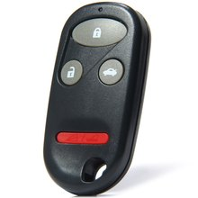 Auto Entry Key Remote Fob Shell Cover Case with 4 Buttons for 2002 Honda Accord Replacement for Broken Buttons / Worn Key Blade