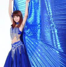 Egypt Belly Dance Isis Wings With Stick For Adult India Dancer Bellydance Costume Accessory Gold Blue Silver Red  Free Shipping