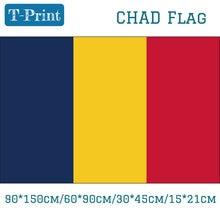 Bandeira 90*150cm/60*90cm/15*21cm 3x5ft 30*45cm do carro bandeira da república do chade para atividades do evento