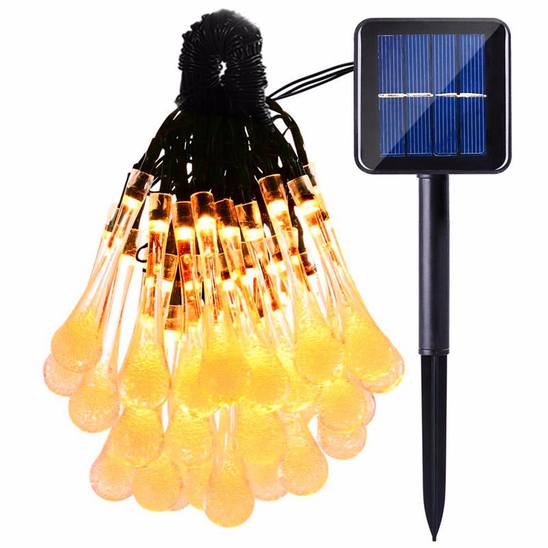 LED luces solar forma de gota  (6)