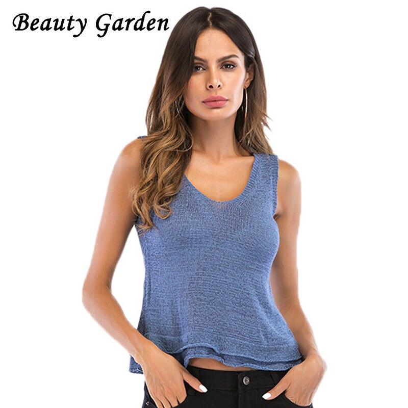 Beauty Fashion Group: Beauty Garden Women Fashion Solid Tank Tops Sleeveless U
