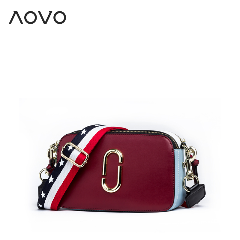 Super Star SAME bag Beautiful Genuine leather shoulder bags Brand camera bag Small Wide strap women messenger bags