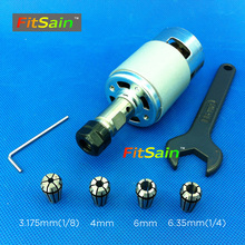 FitSain-ER11 Collet chuck CNC Spindle Collet set from 1/8~1/4 for CNC milling lather tool Ball bearing 775 24V 8000RPM