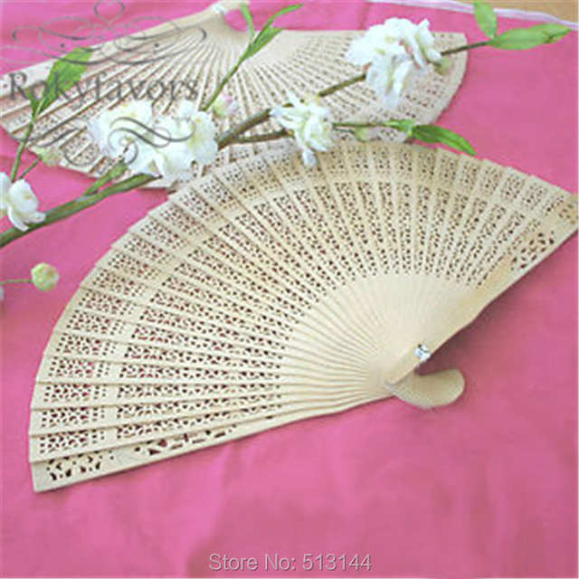 Placeholder FREE SHIPPING 60PCS Laser Cut Scandal Wood Fans Party Favors Birthday Gifts Wedding Giveaways Anniversary Keepsake