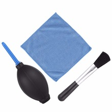 1x camera professional Lens Screen Cleaning Dust brush + 1x dust blower+ 1x Cleaning Cloth Kit For Canon Nikon Sony DSLR Camera