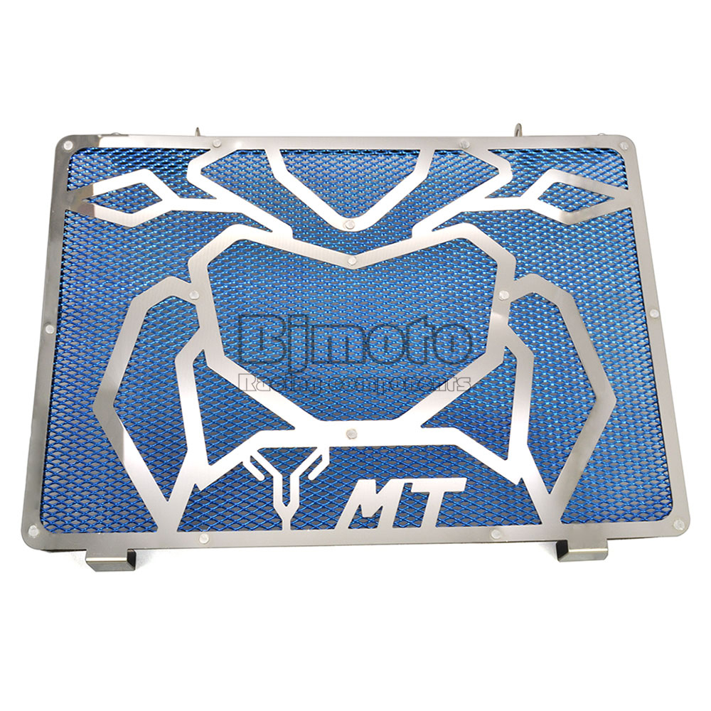 ФОТО BJGLOBAL Motorcycle Engine Radiator Bezel Grille Grill Guard Cover Protector Blue For Yamaha MT09 Stainless Steel