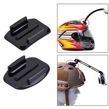 4 шт. шлем клейкая подставка для крепления для Gopro Hero 2 3 4 Sjcam плоские изогнутые аксессуары