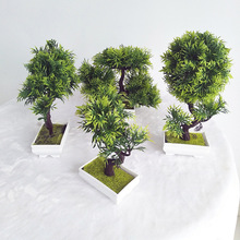 Artificial plants plastic flower bonsai fake Simulation tree for home decoration free delivery
