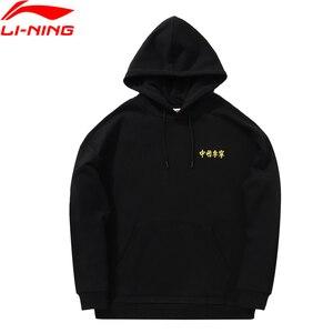 Image 1 - (Code de coupure) li ning FW hommes Sport vie chine doublure à capuche en vrac coton encre peinture Li Ning Sport pull AWDP755 MWW1583