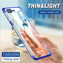 soft TPU case for iPhone 7 6 6s 8 Plus cases ultra thin transparent plating shining case for iPhone 6s silicon cover 7Plus coque rock ultra thin tpu soft case for iphone 7plus transparent black