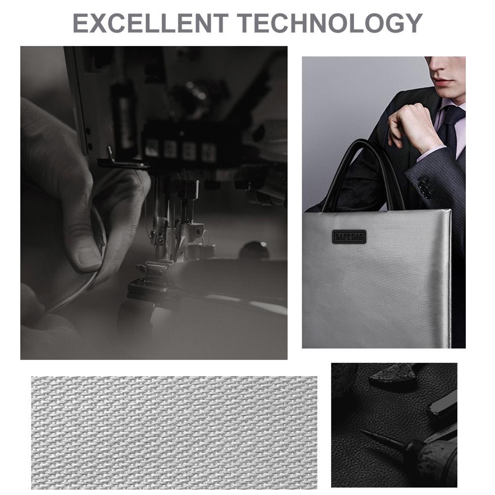 Maletín bolso de fuego documento Bolso grande de doble cara de fibra de vidrio de silicona Material de archivo de empresa ordenador de casa, bolsos, bolso de
