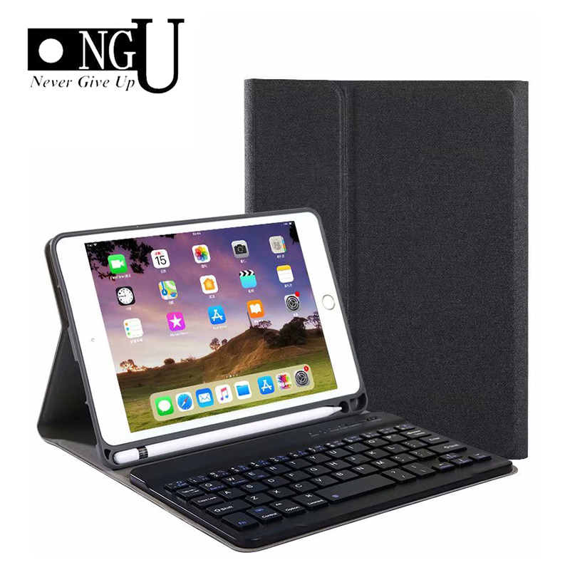 Bluetooth Keyboard <font><b>Case</b></font> For <font><b>iPad</b></font> <font><b>Mini</b></font> 4 <font><b>5</b></font> Luxury PU <font><b>Leather</b></font> Cover for <font><b>iPad</b></font> <font><b>Mini</b></font> <font><b>5</b></font> <font><b>2019</b></font> Funda with Pencil Holder Detachable <font><b>Case</b></font> image