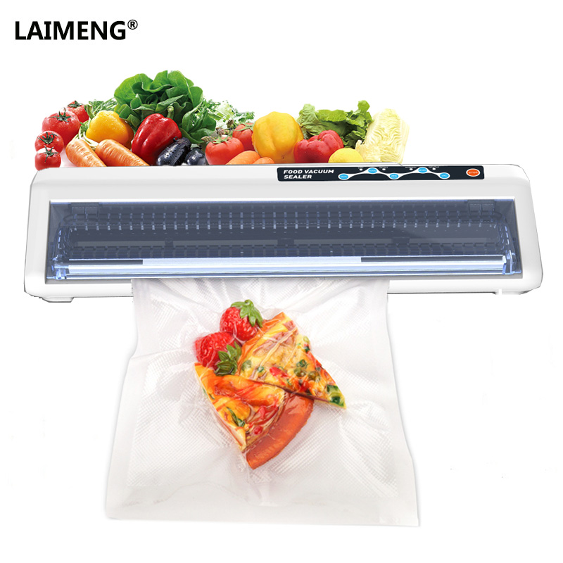 LAIMENG Household Vacuum Sealer Packing Machine With 10Pcs Packs For Vacuum Packer Bags Plus Vacuum Container Hose Accssory household vacuum packaging sealing machine sealer wet and dry use 30cm 110w 220v