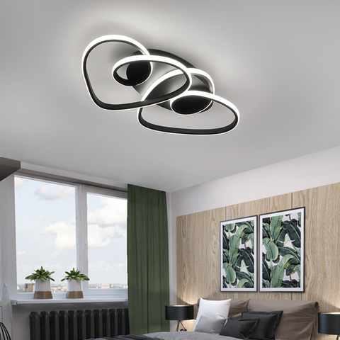 modern led luzes de teto quarto doce coracao romantico casa simples de casamento personalidade criativa